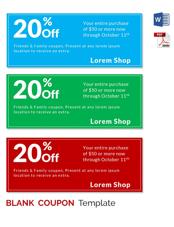Wording for discount coupons