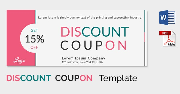 Coupon Sample Template  Coupon Word Template