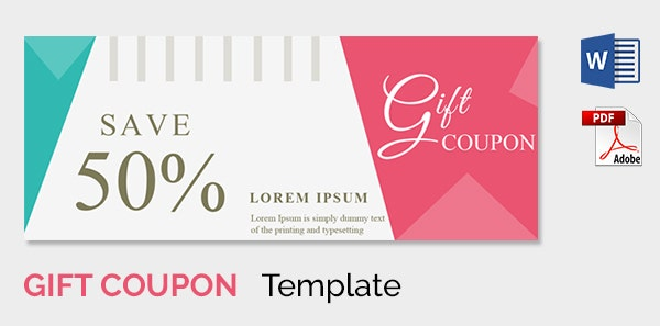 Blank Coupon Template 21 Free PSD Word EPS JPEG Format – Coupon Format