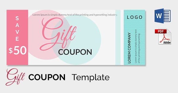 Blank Coupon Templates 26 Free PSD Word EPS JPEG Format – Gift Coupon Template