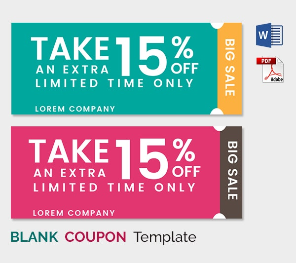 Blank Coupon Template 21 Free PSD Word EPS JPEG Format – Coupon Sheet Template