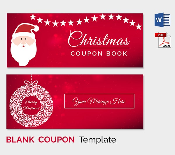 Christmas coupon template word