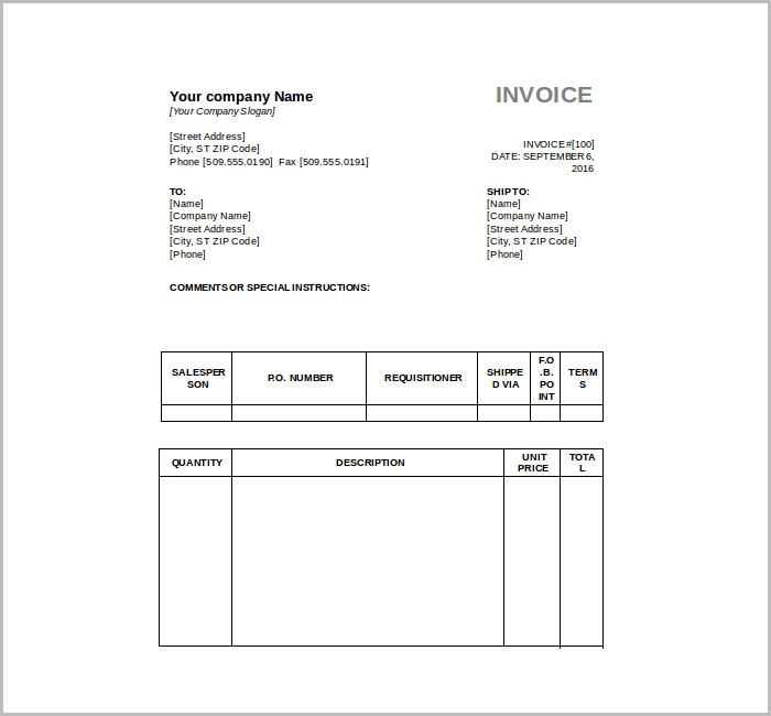 9 Free Tax Invoice Templates – Free Tax Invoice Template Word