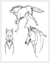 Anime Type Wolf Template