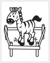 Baby Zebra Coloring Page for Kids