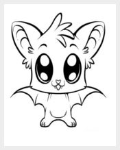 Cute Little Bat Template