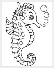 Cute Seahorse Template