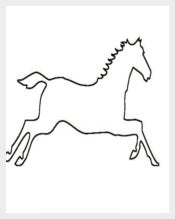 Horse Shape Template