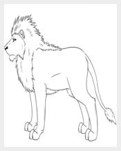 Lion Template Outline