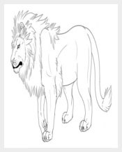 Lion Template Shape