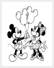 Mickey Mouse Pair Template