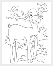 Smiling Reindeer Template