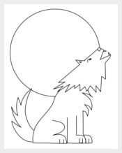 Wolf Animal Shape Template