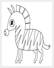Zebra Coloring Page Template