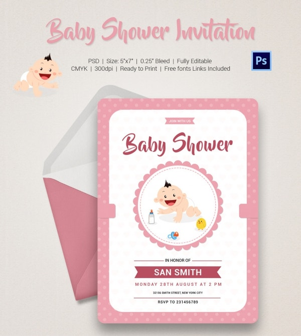 baby shower invitation template 22 free psd vector eps ai format