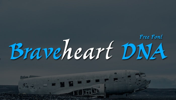 1 Braveheart DNA Font