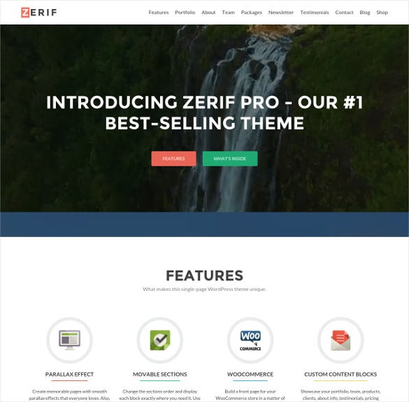 business wordpress one page theme