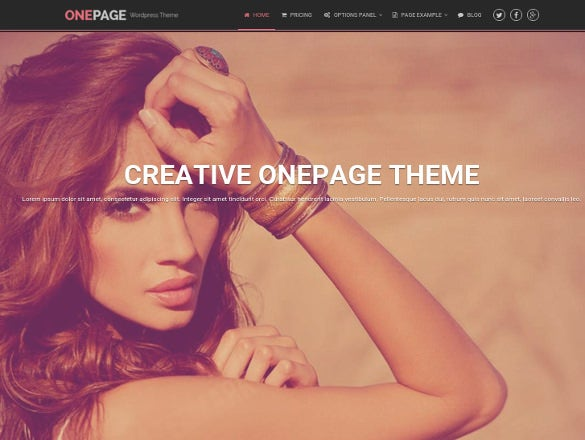 portfolio and business one page wordpress theme