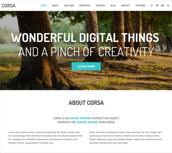 responsive creative onepage wordpress theme