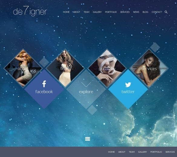 flat onepage parallax wp template
