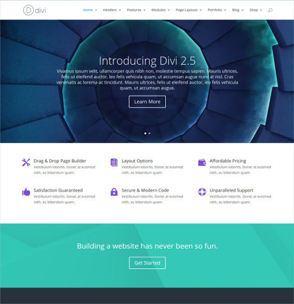 wordpress one page template