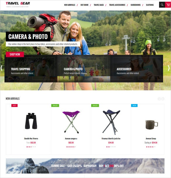 free magento theme for travel shop