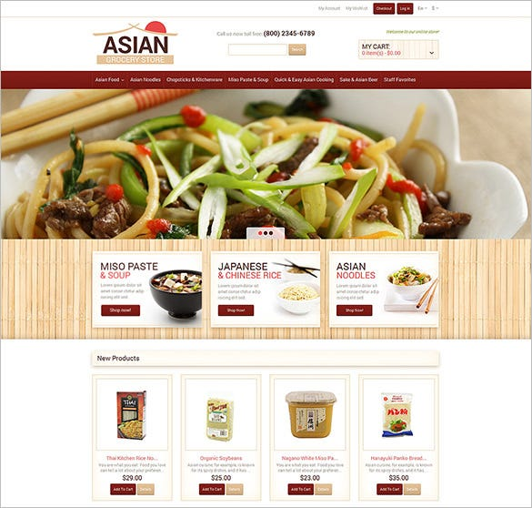 food and restaurant shop magento template1