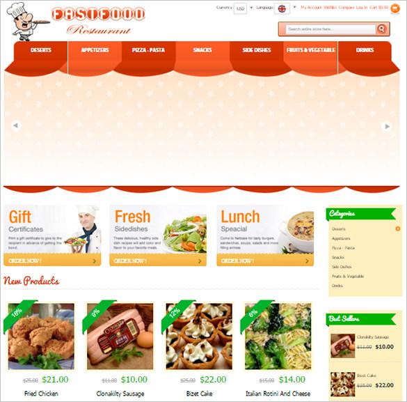fast food restaurant magento theme