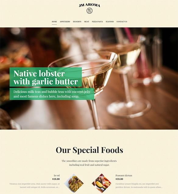 responsive magento restaurant theme1