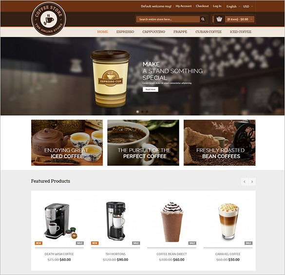 coffee and restaurant magento responsive theme