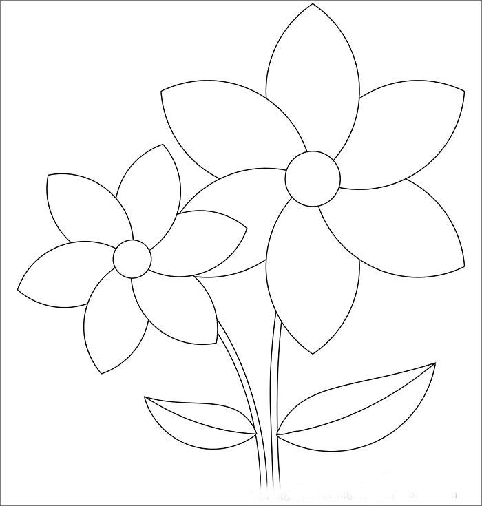 Flower template free templates free premium templates printable flowers rose free download pronofoot35fo Image collections