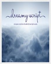 Dreamy Cursive Script Font