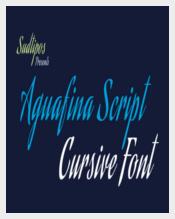 Aguafina Cursive Script Font