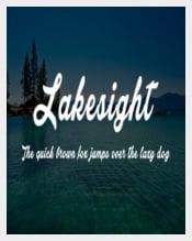 Lakesight Cursive Font