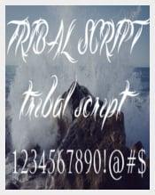 Tribal Script Calligraphy Tattoo Font