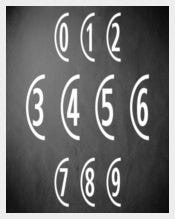 Decorative Number Font Download for Free