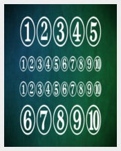Digits Stylish Number Font