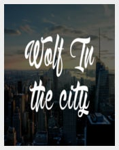 Wolf in the City Tattoo Font