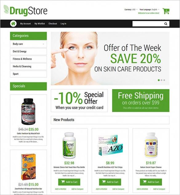 drug store magento theme1
