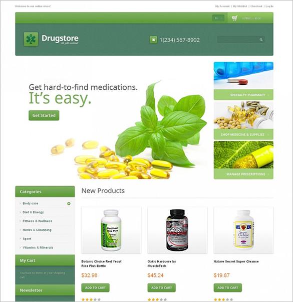 premium drug store responsive magento theme