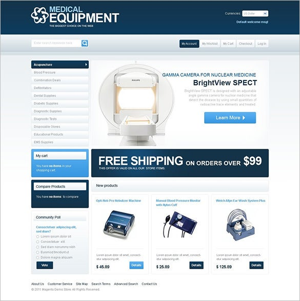 fully responsive medical equipment store magento theme