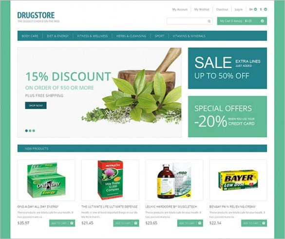 best magento template for drugstore1