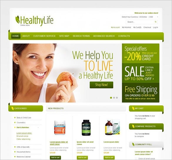 healthy family magento theme1