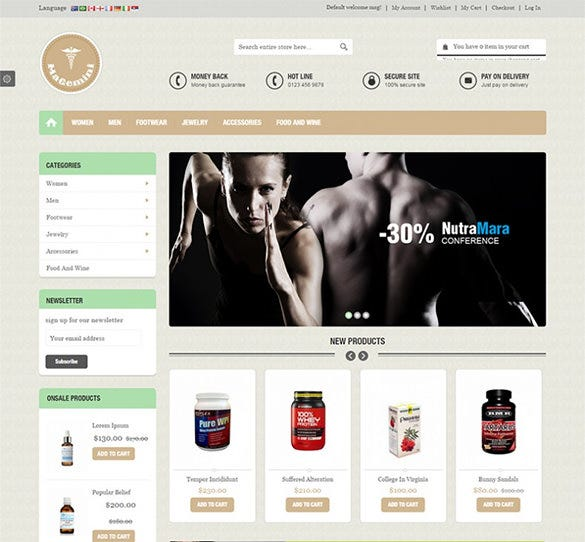 medical stores magento template1