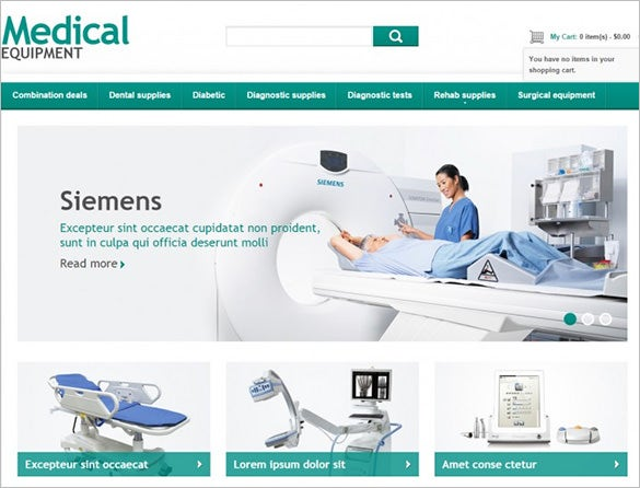 fully responsive medical equipment store magento template1