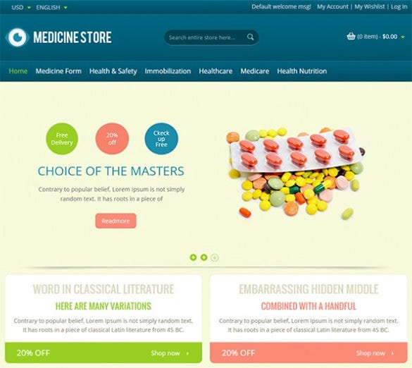 premium pharmacy magento template1