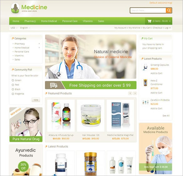 responsive medical store magento theme1
