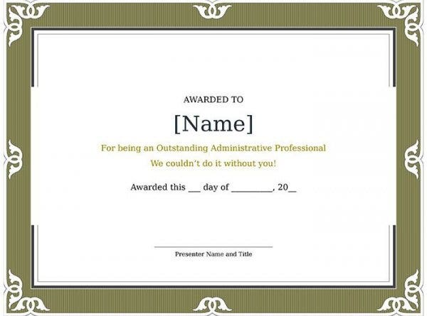 82+ Free Printable Certificate Template - Examples in PDF, Word ...
