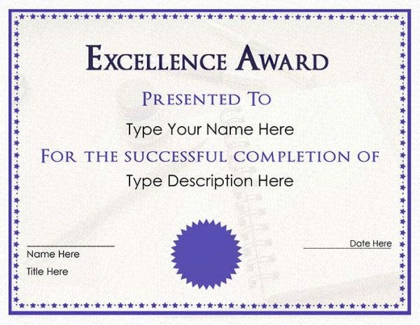 82 free printable certificate template examples in pdf word