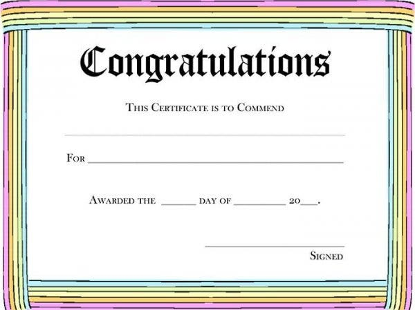 Free Certificate  Printable Certificate Of Participation